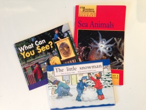 Levelled reading books used by teachers for guided reading lessons